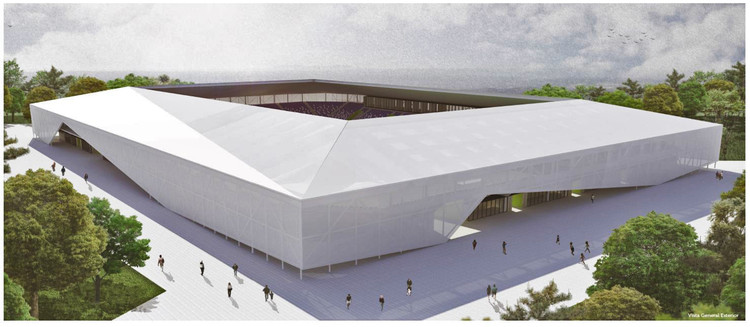 Chile: Presentan proyectos ganadores para diseñar nuevo estadio de Osorno, Primer Lugar. Image