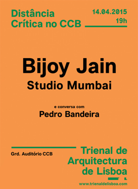 Trienal de Arquitetura Lisboa promove palestra com Bijoy Jain, do Studio Mumbai