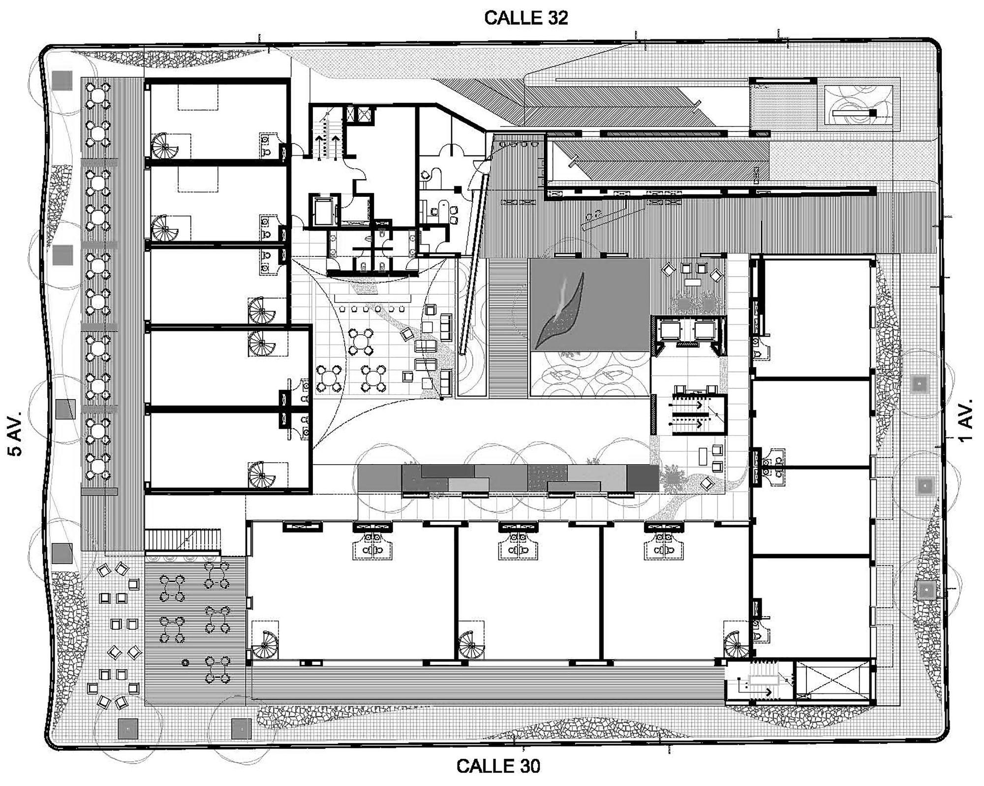 Galer a de hotel boutique cacao rdlp arquitectos 28 for Hoteles en planta
