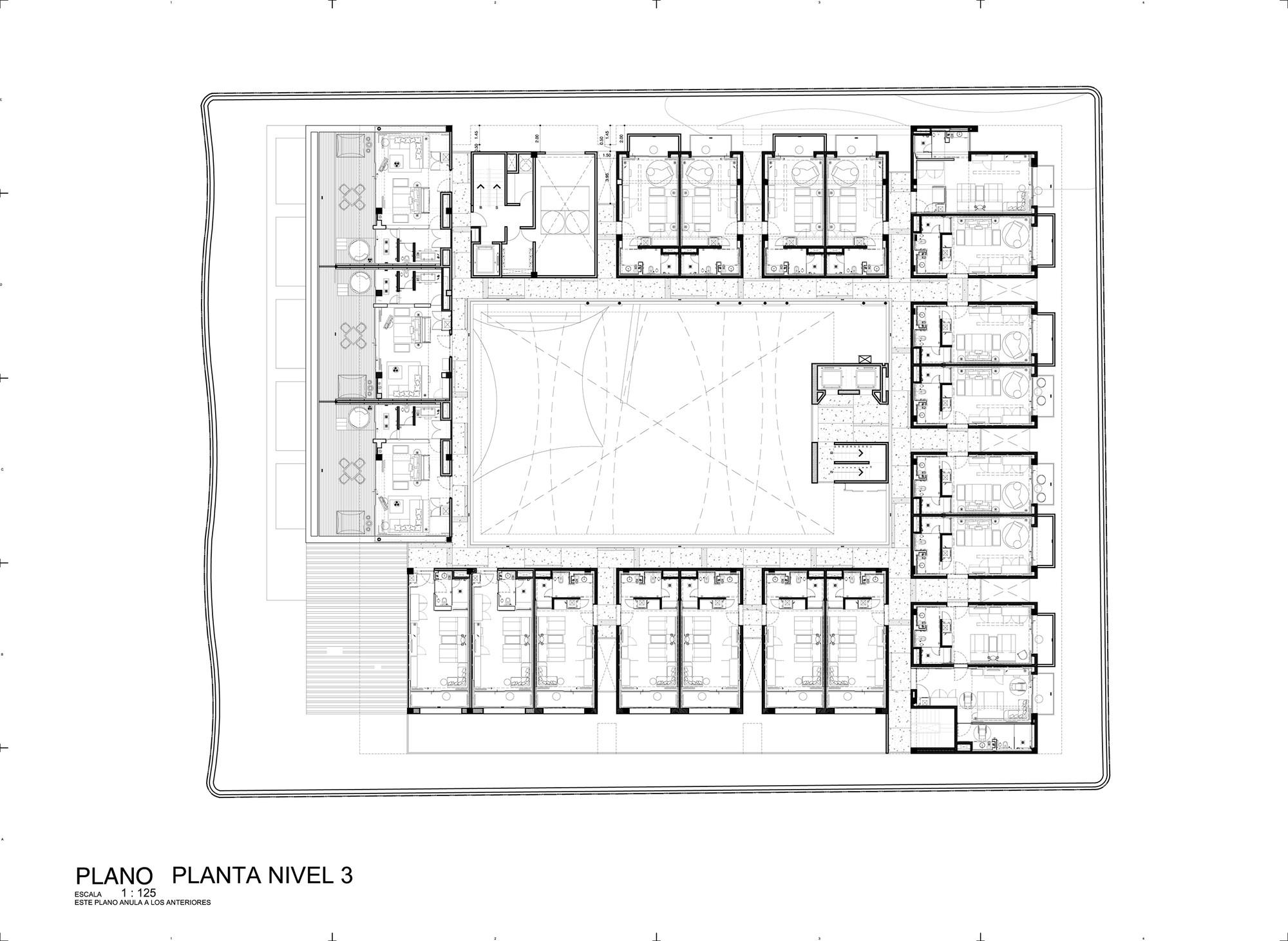 Galer a de hotel boutique cacao rdlp arquitectos 31 for Hoteles en planta