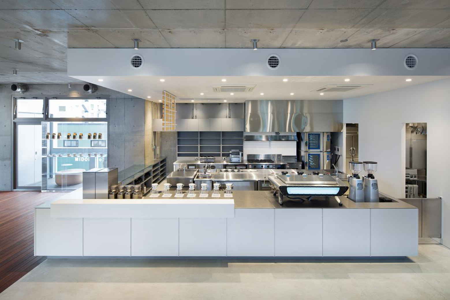 gallery of blue bottle coffee aoyama cafe schemata architects 1. Black Bedroom Furniture Sets. Home Design Ideas