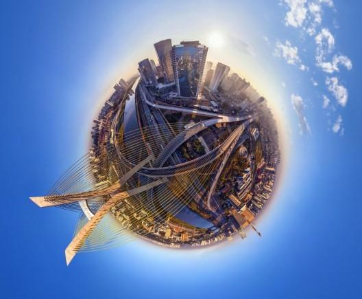 16 impressionantes fotografias de cidades em 360°, São Paulo, Brasil. Imagem © Air Pano/Caters News Agency