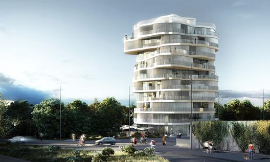 FMA's winning proposal for the Jardins de la Lironde Competition. Image © Farshid Moussavi Architecture