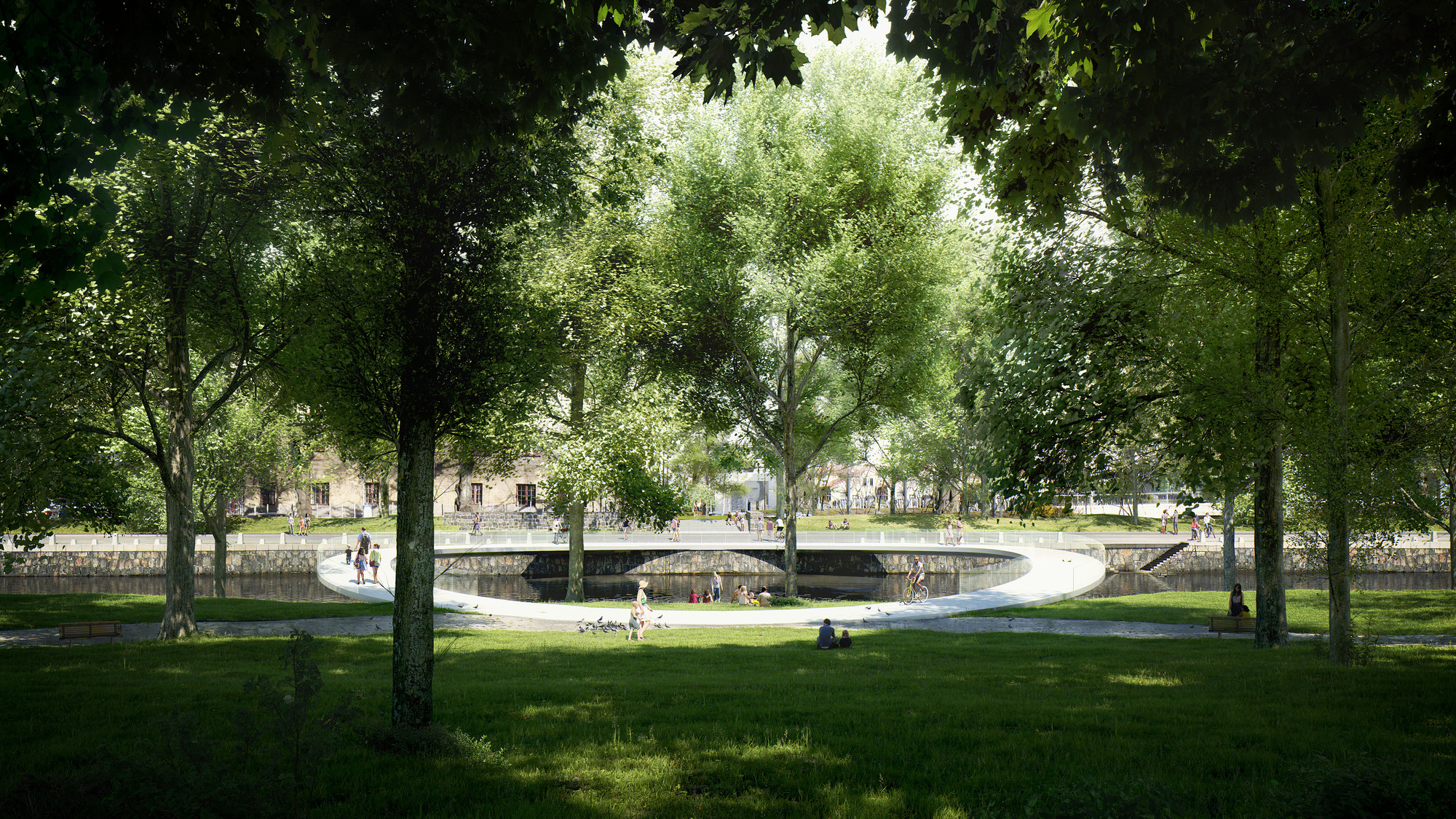 Erik Andersson Designs Carbon Fiber Pedestrian Bridge for Gothenburg, © MIR