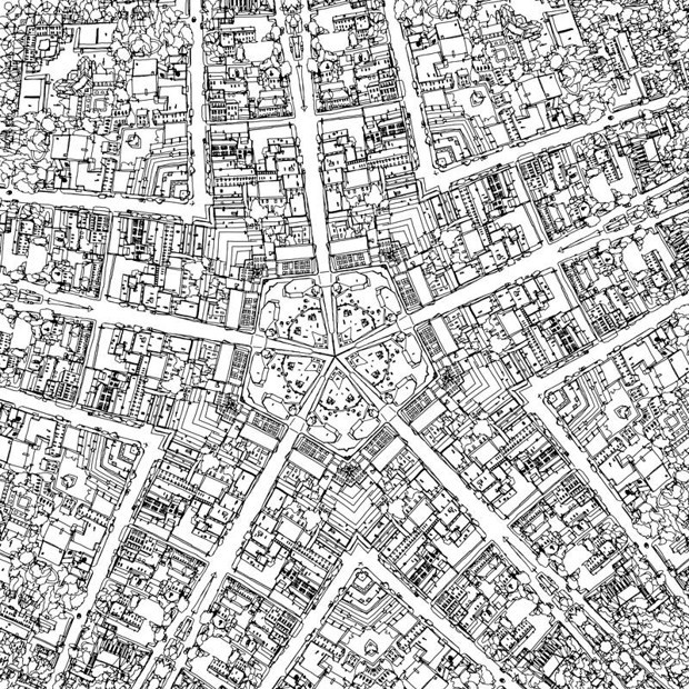 Fantastic Cities A Coloring Book Of Real And Imagined From