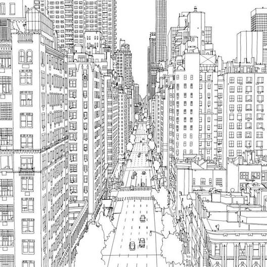Galeria De Fantastic Cities Um Livro De Colorir Com Ilustracoes