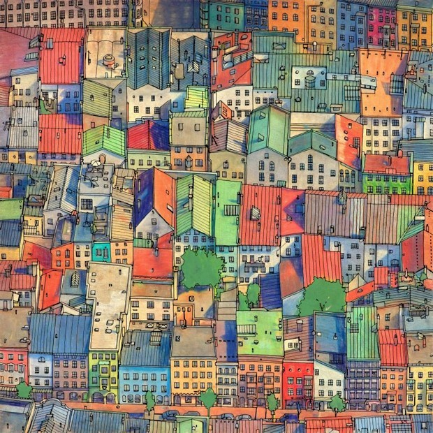 Gallery of Fantastic Cities: A Coloring Book of Real and Imagined ...