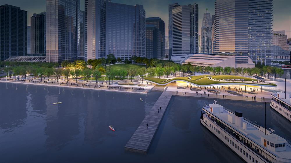 KPMB e West 8 vencem concurso para reprojetar o Terminal Marítimo de Toronto, Cortesia de West 8