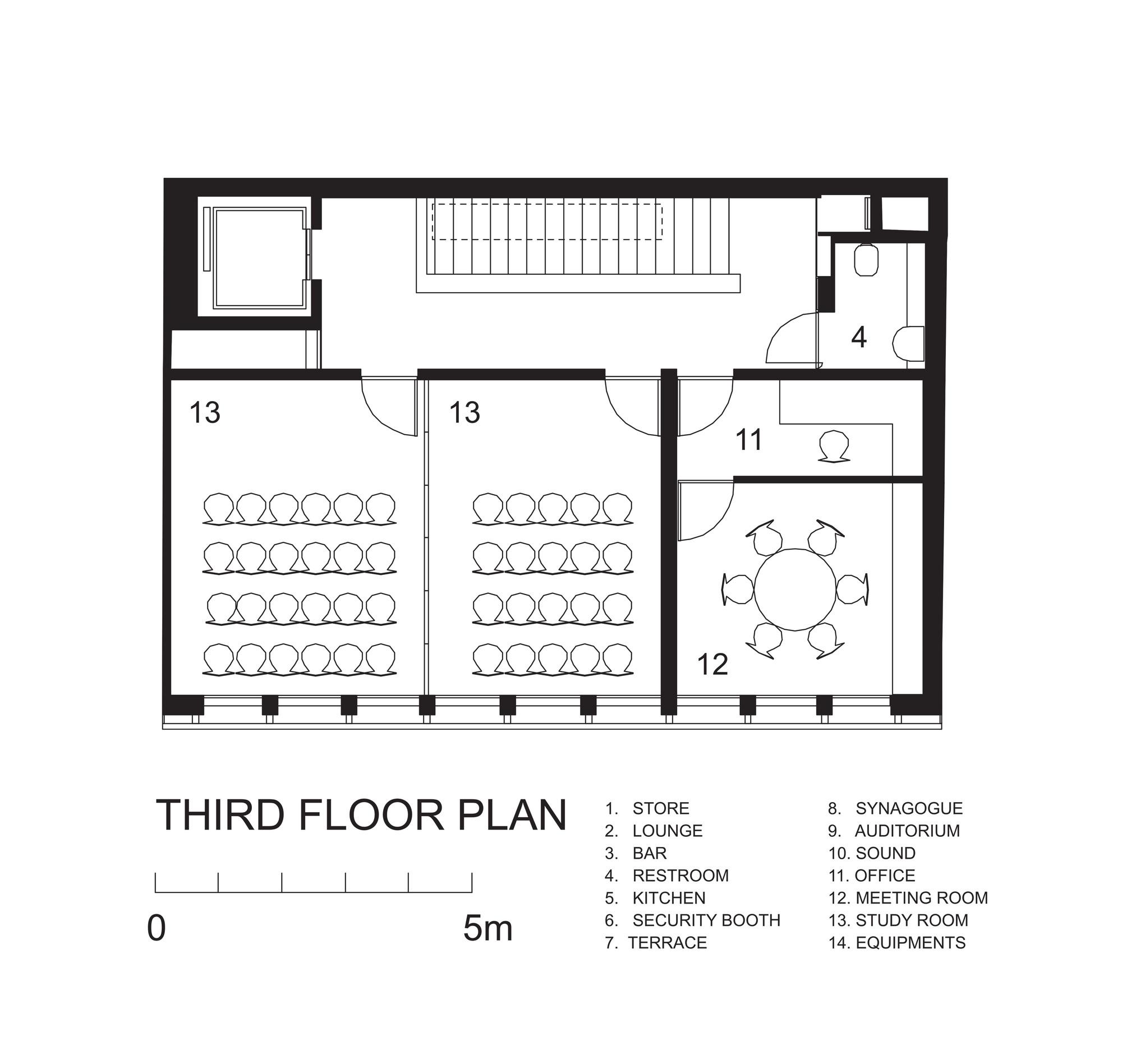Gallery of midrash isay weinfeld 12 midrashthird floor plan malvernweather Images