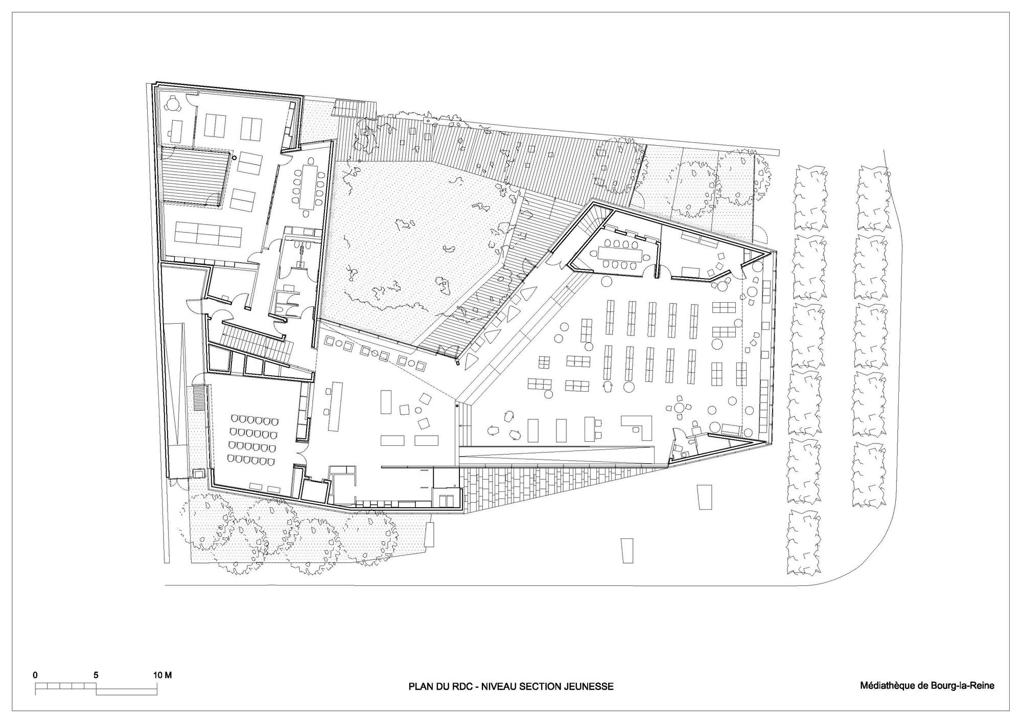 galeria de midiateca em bourg la reine pascale gu dot architecte 17. Black Bedroom Furniture Sets. Home Design Ideas