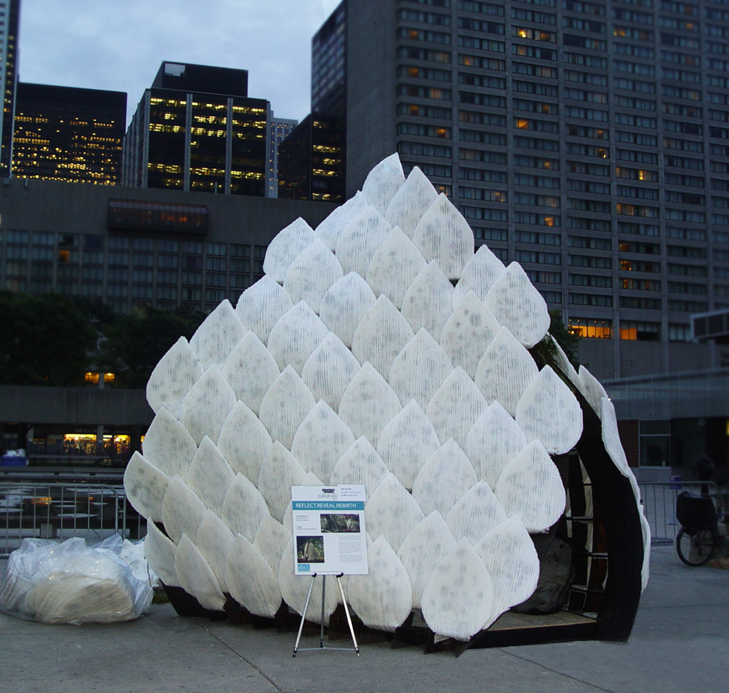 NJIT Graduates Create A Biodegradable Pavilion For Sukkahville 2014, Courtesy of Michael Signorile and Edward Perez