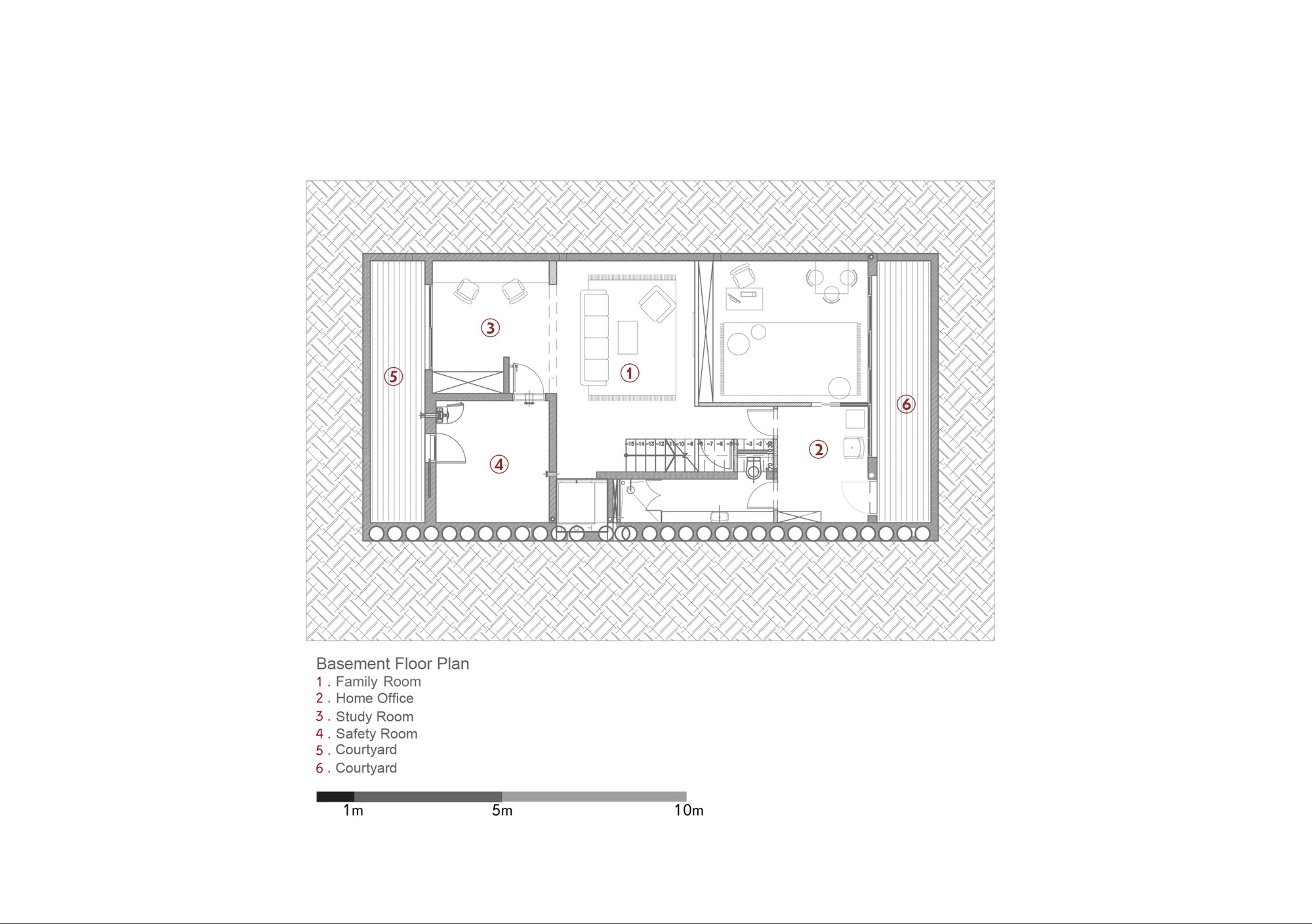 Awesome D House,Basement Floor Plan