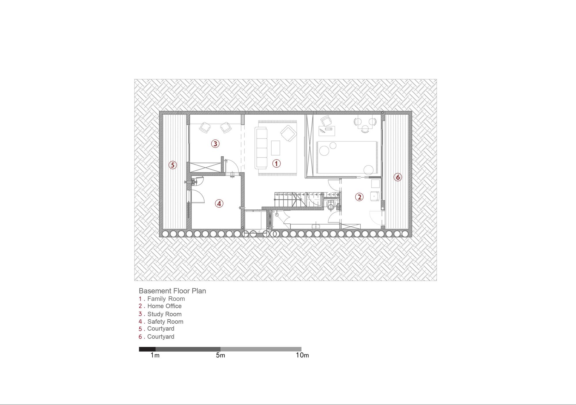 Attractive D House,Basement Floor Plan