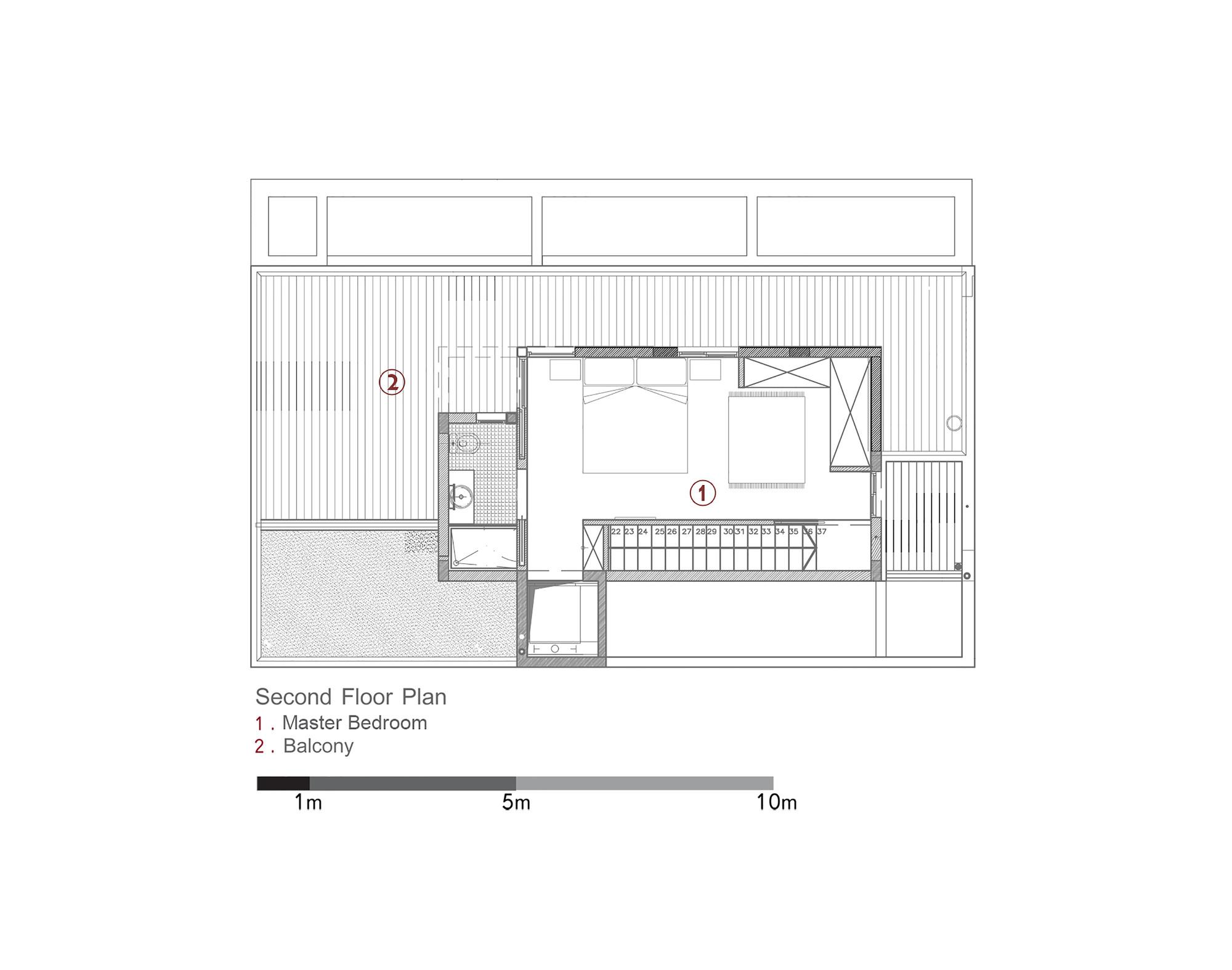 D House,Second Floor Plan
