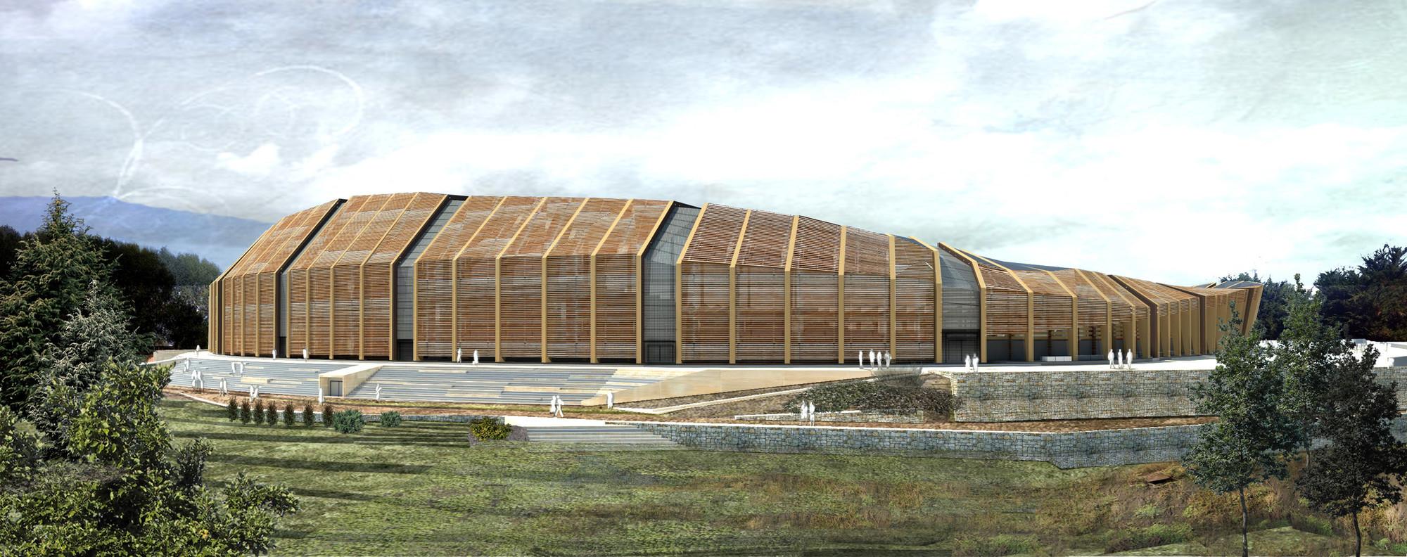 Tercer lugar en concurso de ideas para nuevo estadio de Osorno en Chile, Cortesia de Equipo Tercer Lugar
