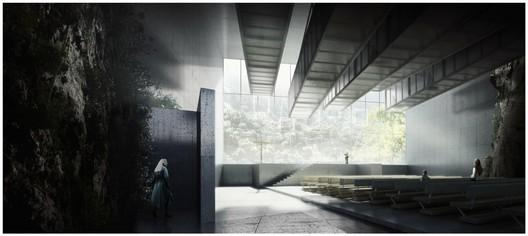 """Proposta """"Inside a Sinkhole: A Convent"""", de Javier Galindo, vencedora do concurso Inside2013"""