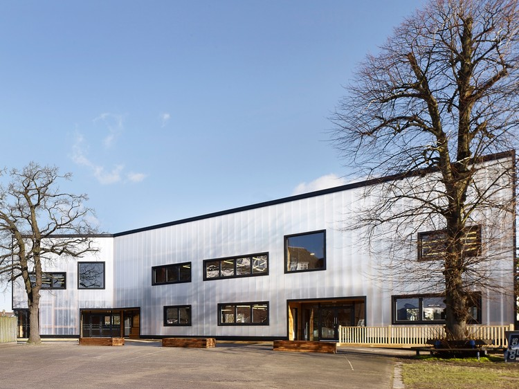 Graveney school sixth form block urban projects bureau archdaily