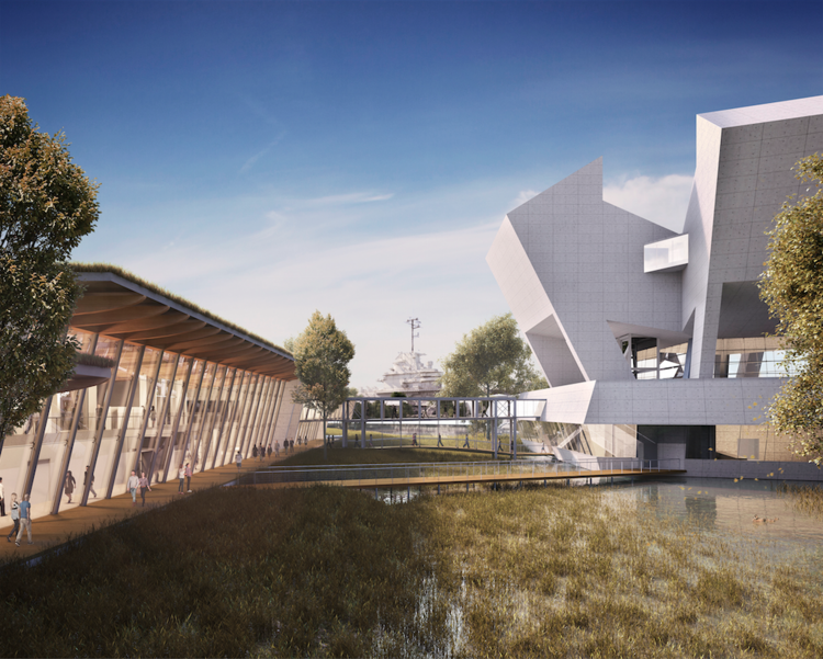 Safdie Architects divulga projeto final para o National Medal of Honor Museum , © Neoscape, cortesia de Safdie Architects
