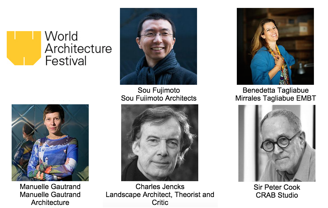 Sou Fujimoto, Peter Cook and Benedetta Tagliabue Among WAF 2015 Judges, Courtesy of WAF