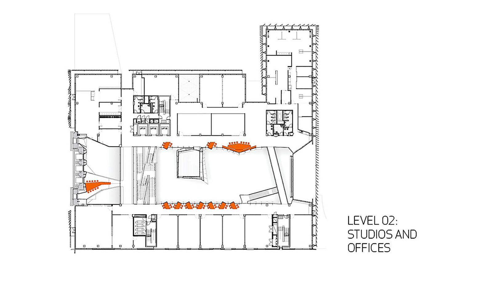 Melbourne school of design university of melbournesecond floor plan