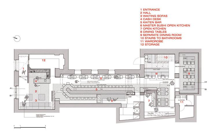 Restaurante Zen Sushi Carlo Berarducci Architecture