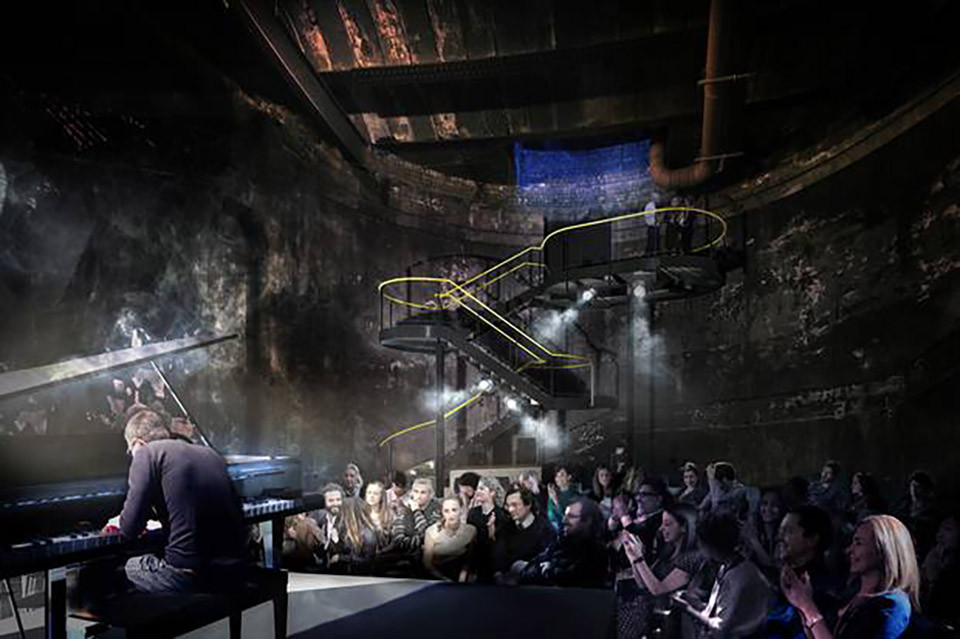 172-Year-Old Tunnel Project to Become London's Newest Performance Venue, Courtesy of Tate Harmer