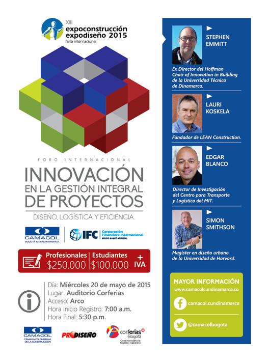 Foro Internacional: Innovación en la gestión integral de proyectos / Colombia