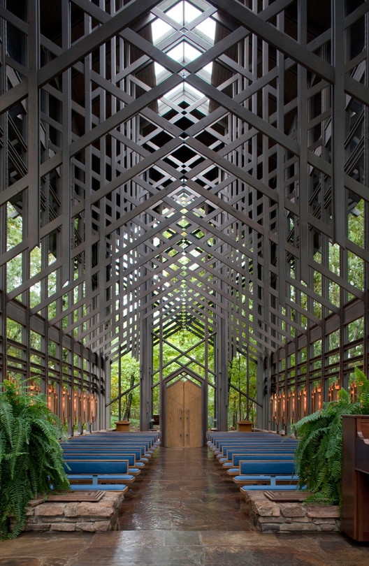 Capilla Thorncrown / E. Fay Jones, © Randall Connaughton