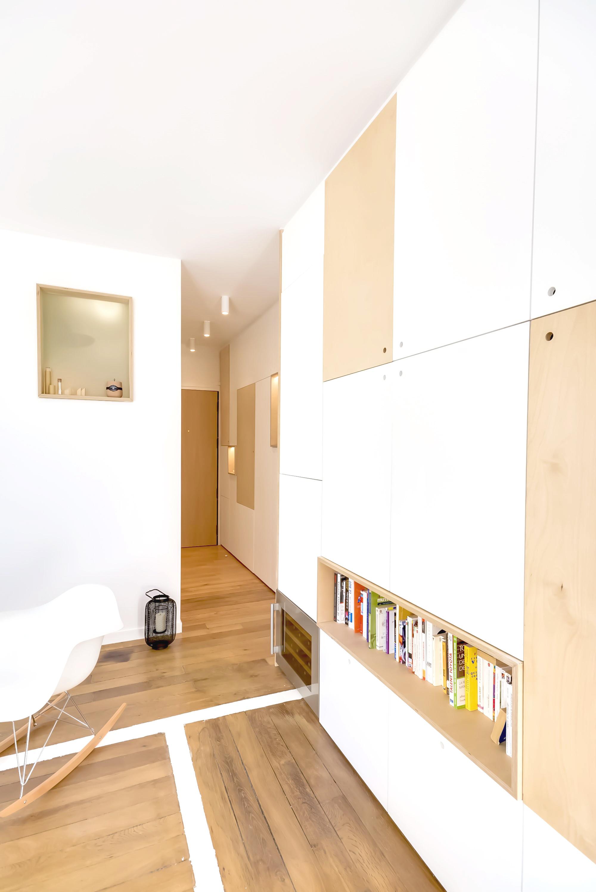 gallery of 30m2 flat in paris richard guilbault 12. Black Bedroom Furniture Sets. Home Design Ideas