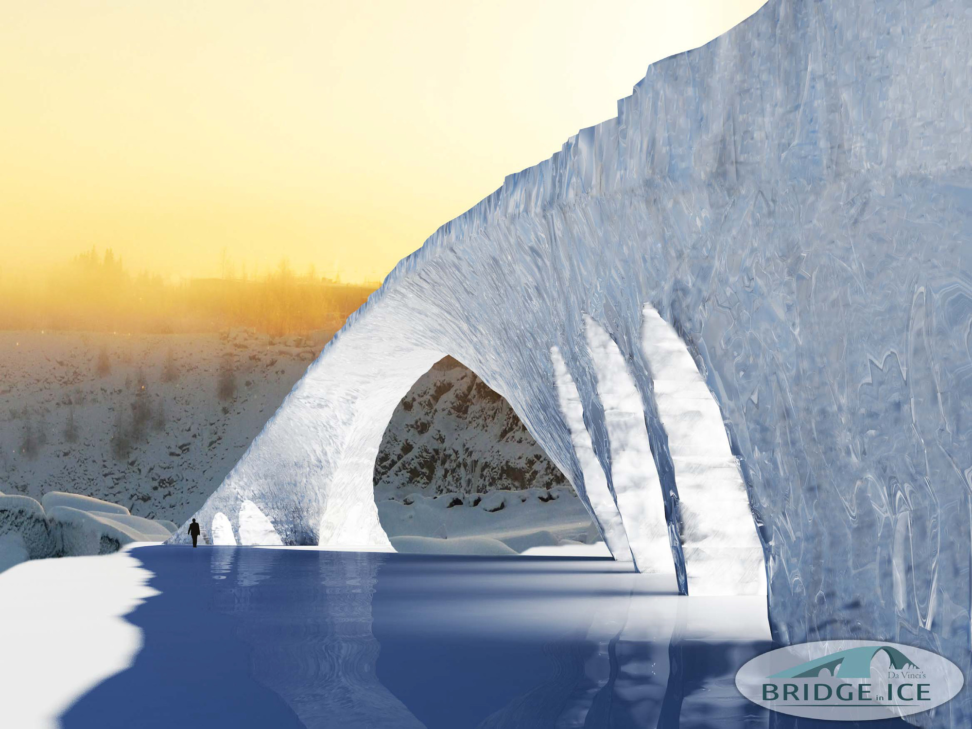 TU/e Students to Build Leonardo da Vinci's Bridge Out of Ice, Courtesy of Eindhoven University of Technology