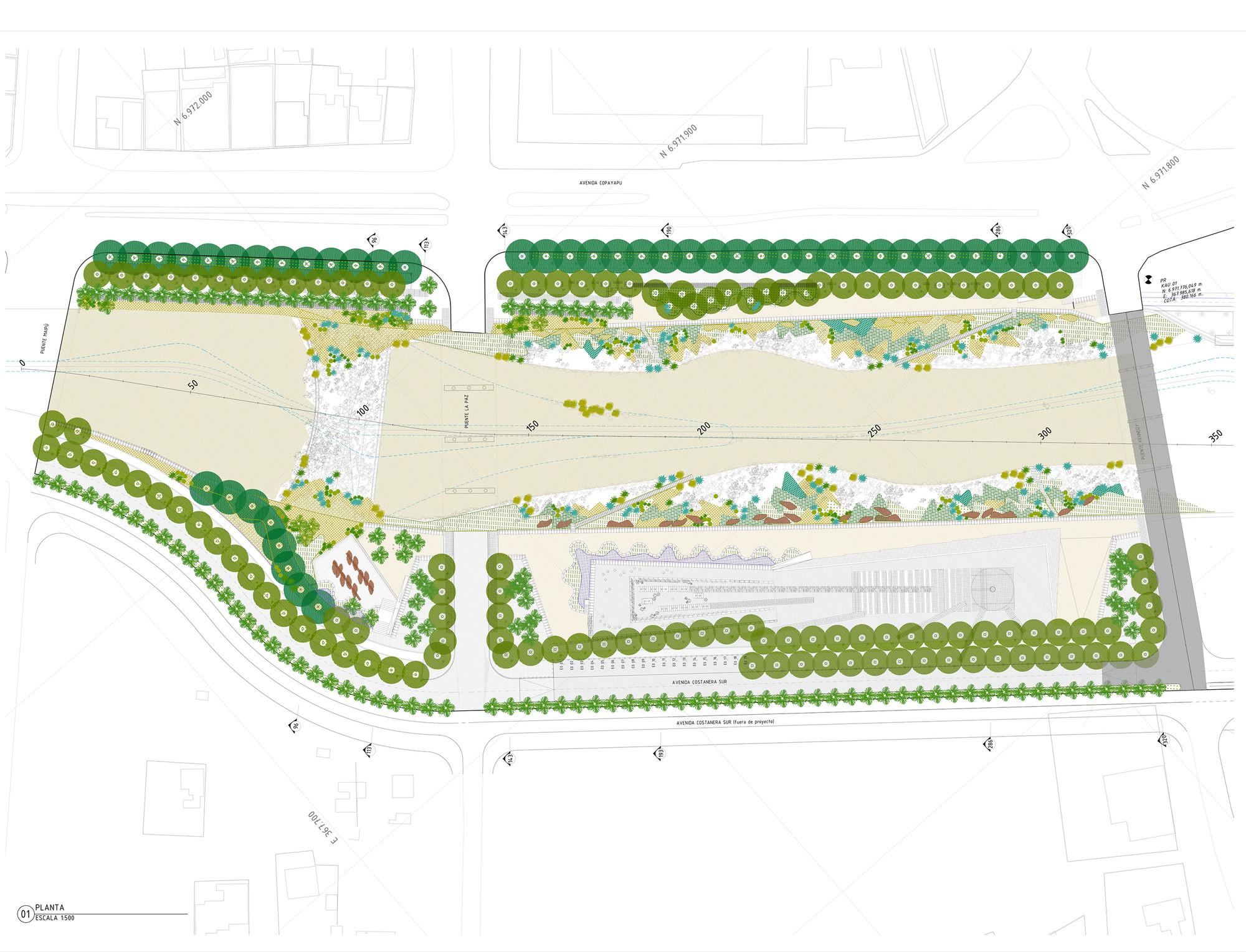 Galeria de parque urbano kaukari teodoro fern ndez for Plantas ornamentales para parques