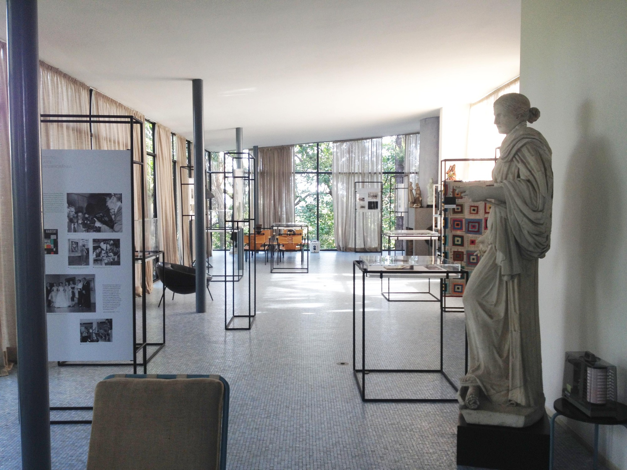 Lina bo bardis archive on display at her glass house in são paulo
