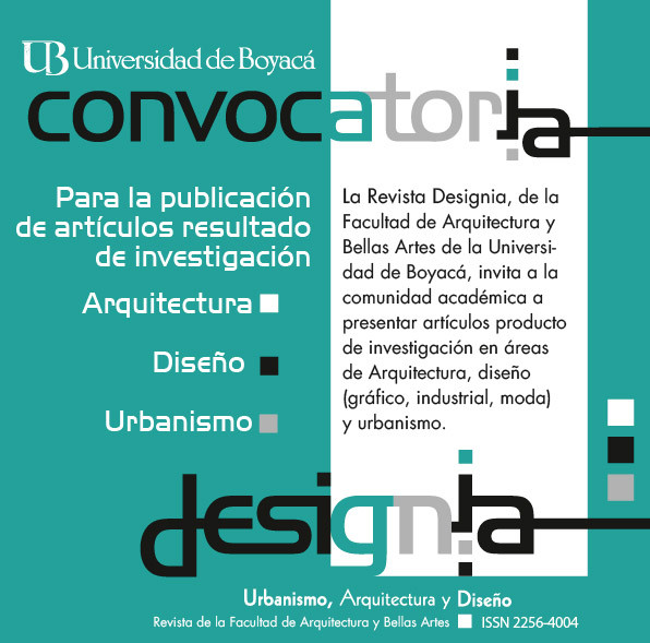 Convocatoria internacional: Revista Designia / Colombia