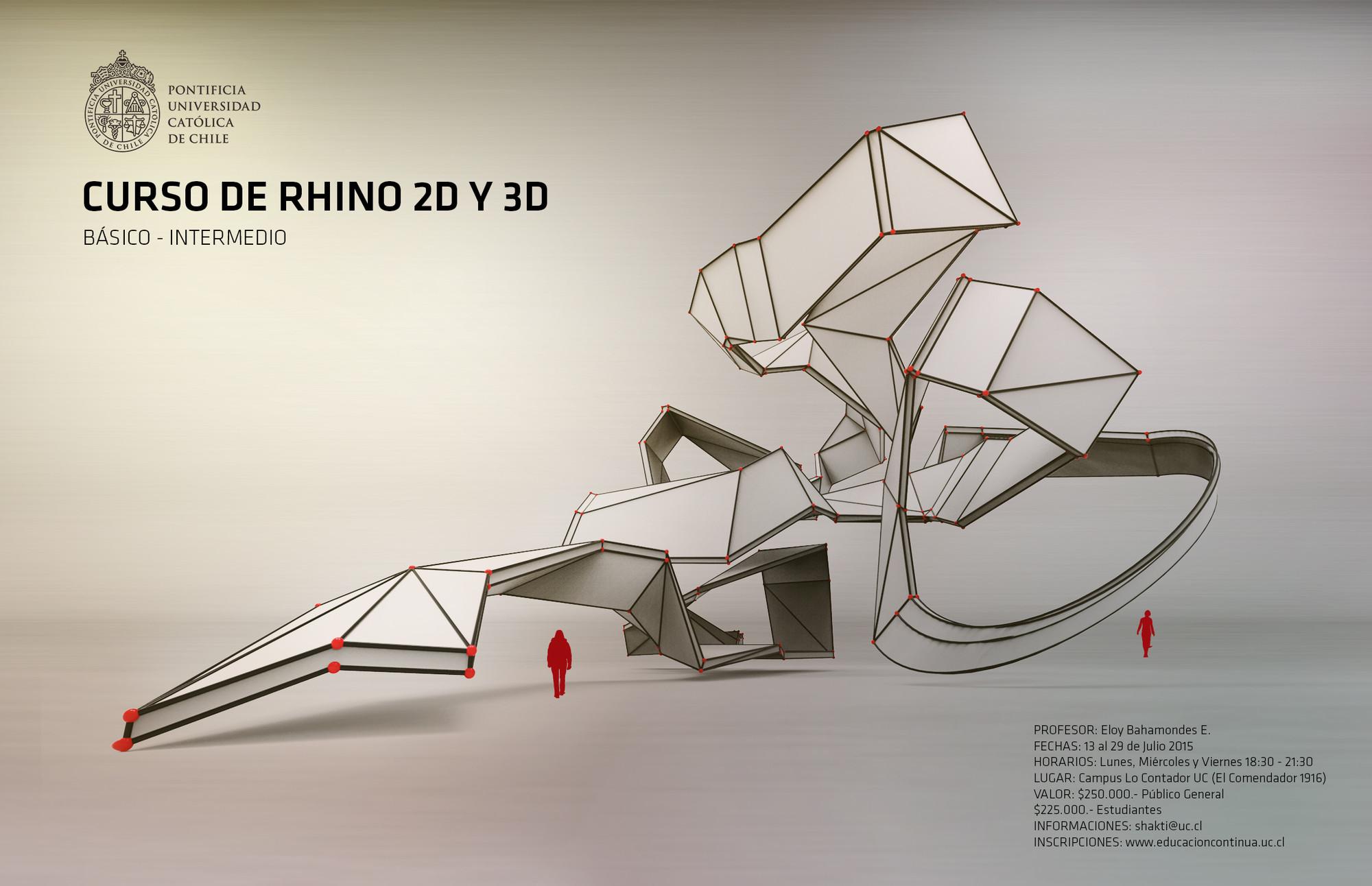 Curso de Rhino 2D y 3D / Escuela de Arquitectura UC, Cortesia de Educación Continua UC