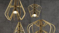 Série Exo, luminárias de acrílico por Rowan Turnham e Matthew Harding