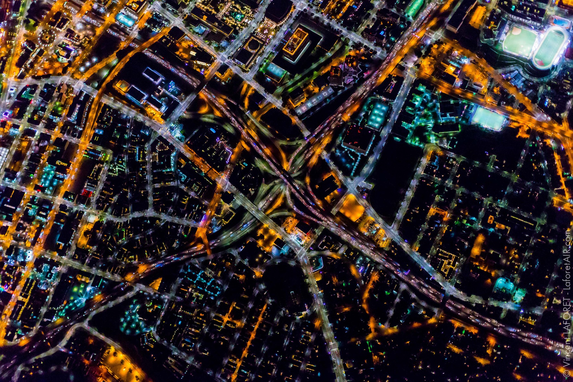 Fotografias aéreas de Los Angeles, por Vincent Laforet, © Vincent Laforet
