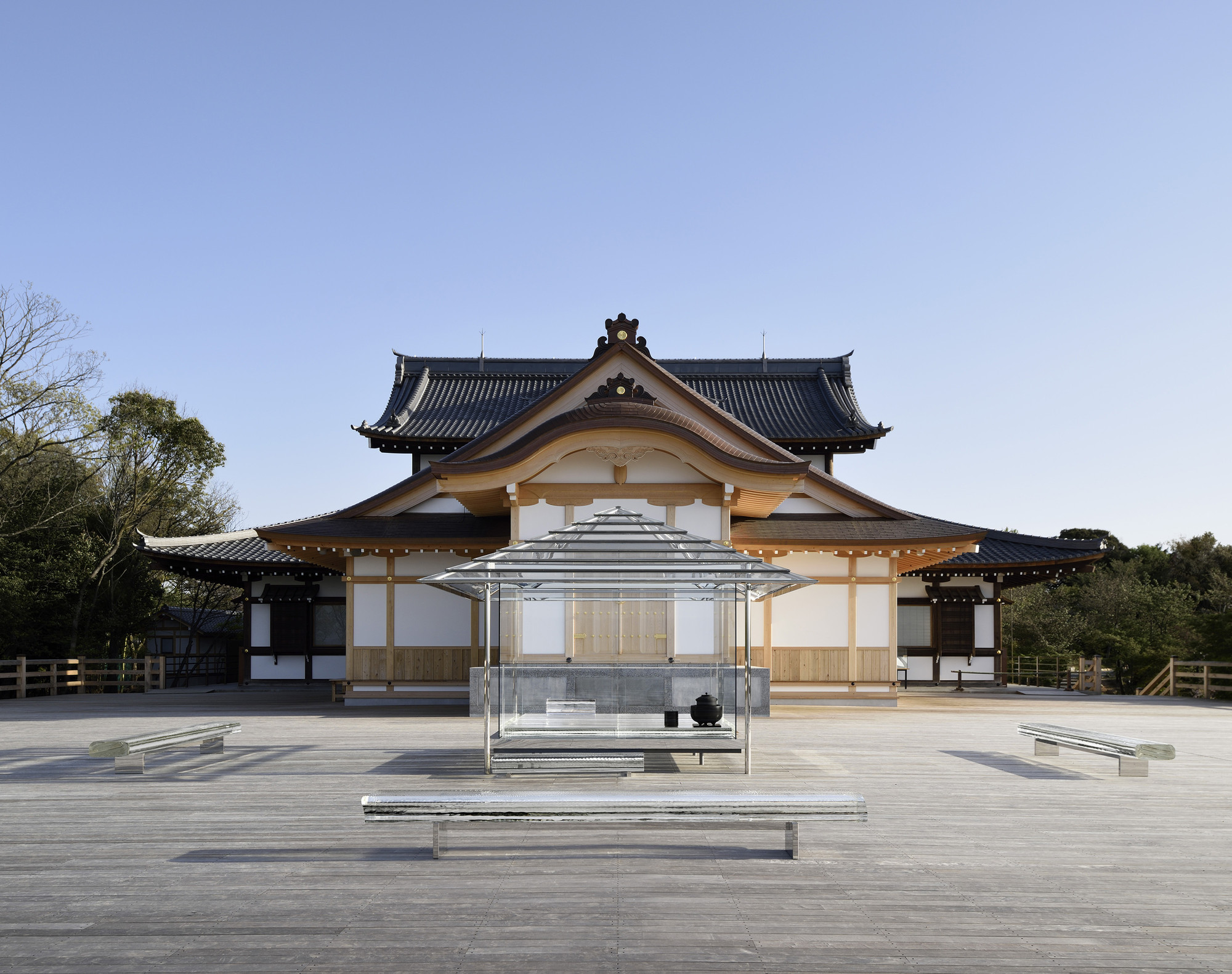 KOU-AN Glass Tea House / Tokujin Yoshioka, © Yasutake Kondo