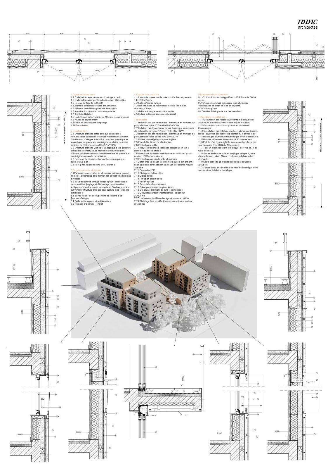 Enduit Souple Pour Bois gallery of mixed use 107 apartement units / nunc architectes