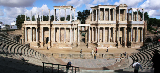The Roman Theater, constructed at the end of the first century BCE. Image © Wikipedia user Xauxa