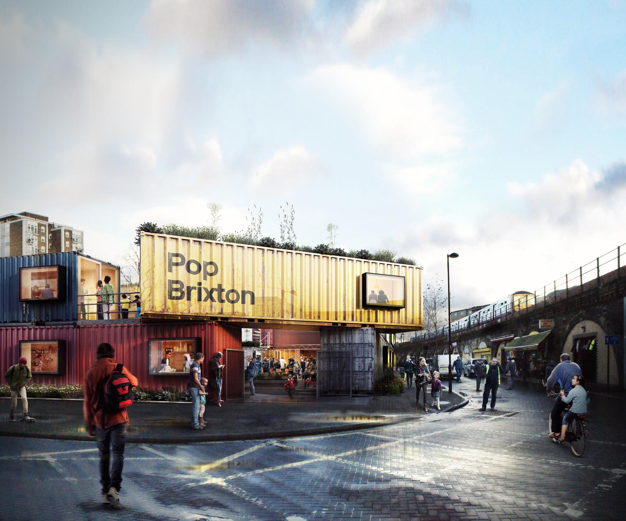 RIBA London Announces 'Work In Progress' Themed Line-Up For LFA 2015, Pop Brixton (entrance). Image Courtesy of RIBA London