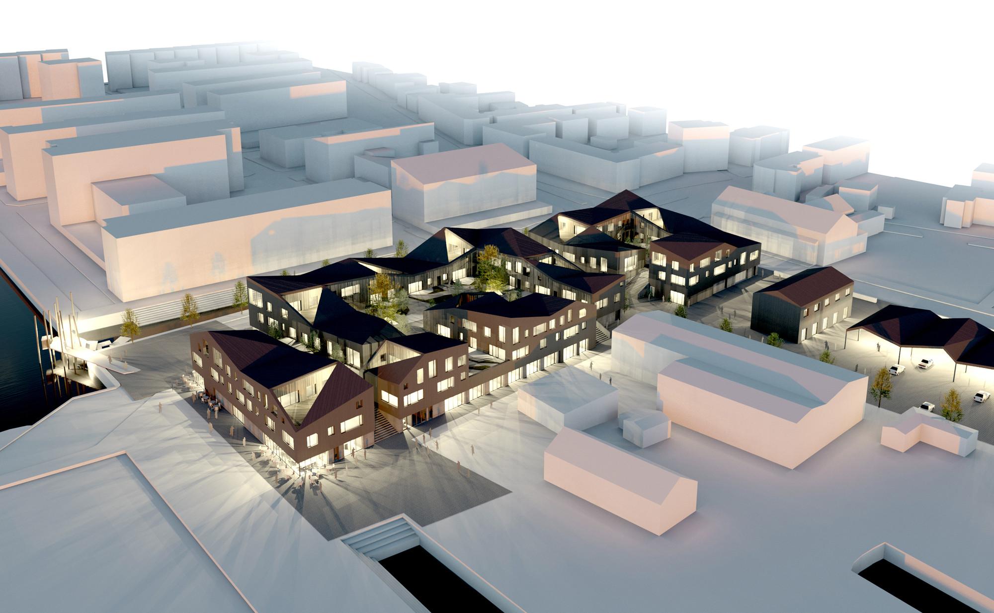 dimension design Gallery of Kullegaard Takes First Place in Holbæk HavneBy Design  dimension design