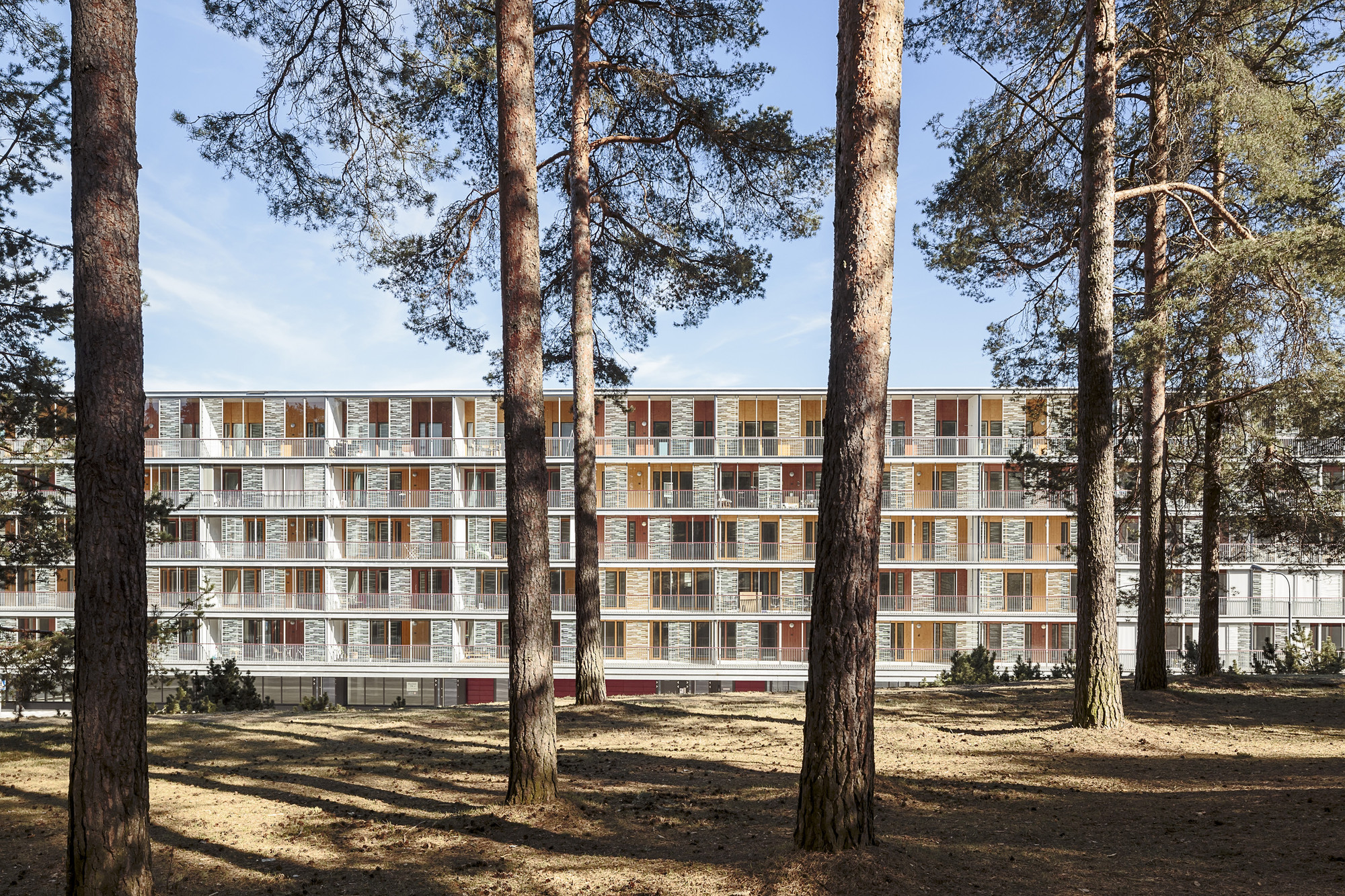 Harjunkulma Housing Block / Kirsti Sivén & Asko Takala Arkkitehdit, © Tuomas Uusheimo