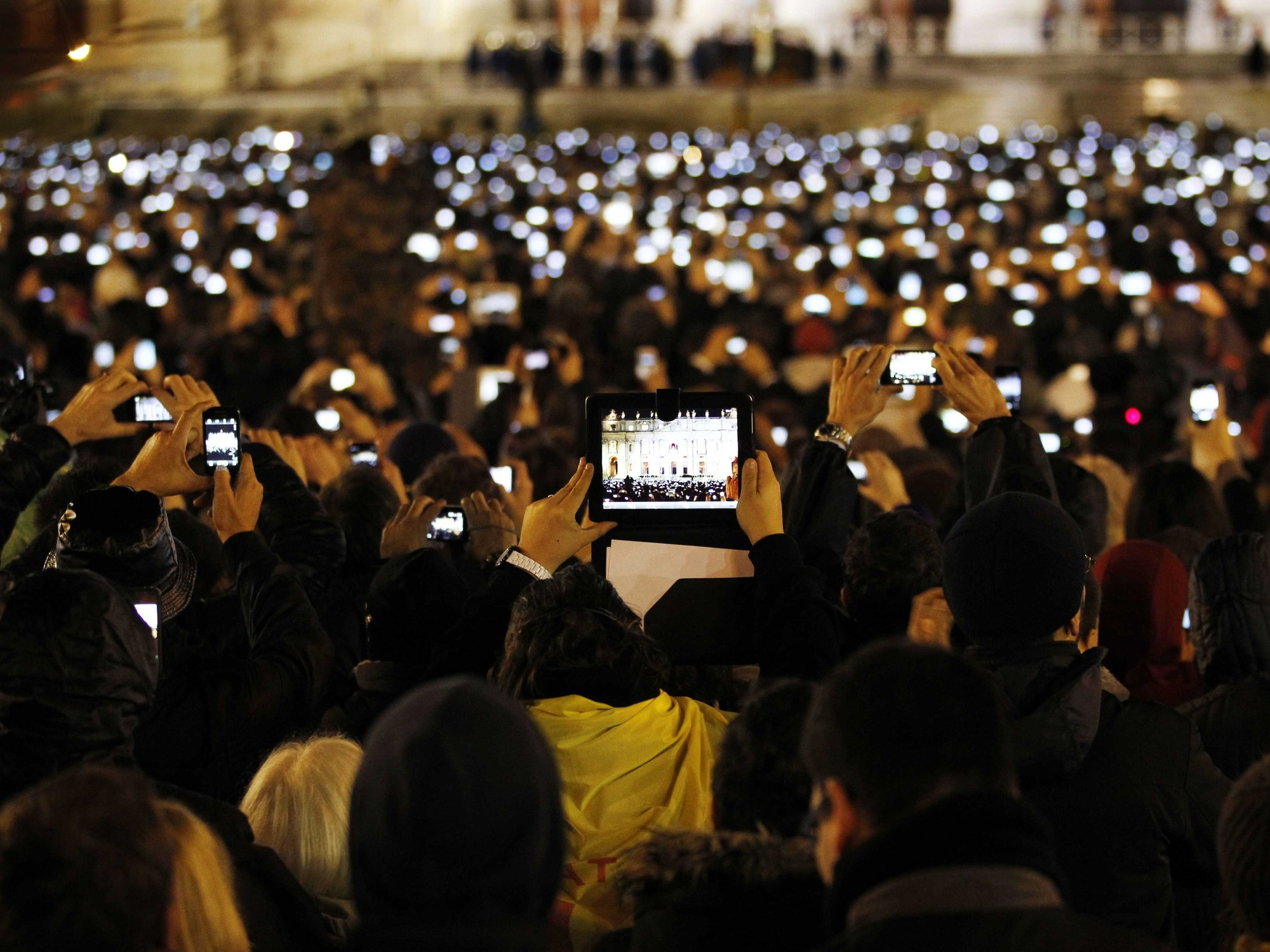 Has Technology Diminished Our Understanding Of Public Space?, St. Peter's Square through the lens of a camera. ImagePapal Conclave 2013, Vatican City