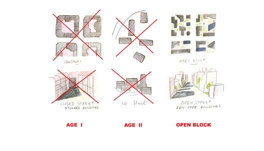 Concept drawings for Les Hautes-Forms. Image © Atelier Christian de Portzamparc <a href='https://commons.wikimedia.org/wiki/File:1975-1979_Les_Hautes-Formes_housing_project,_Paris,.jpg'>via Wikimedia</a> licensed under <a href='https://creativecommons.org/licenses/by-sa/2.0/fr/deed.en'>CC BY-SA 2.0 FR</a>