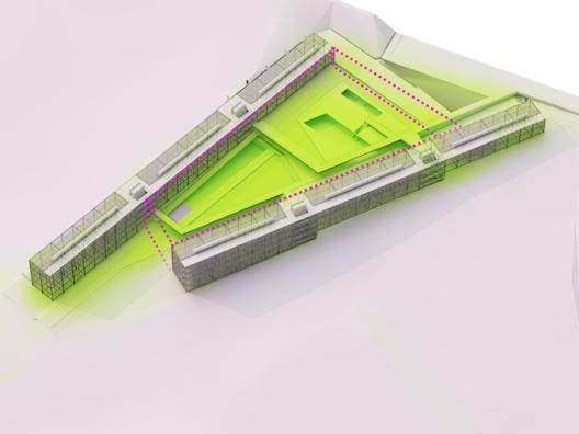 Esquema isométrico. Image Cortesia de Arquitetos Associados