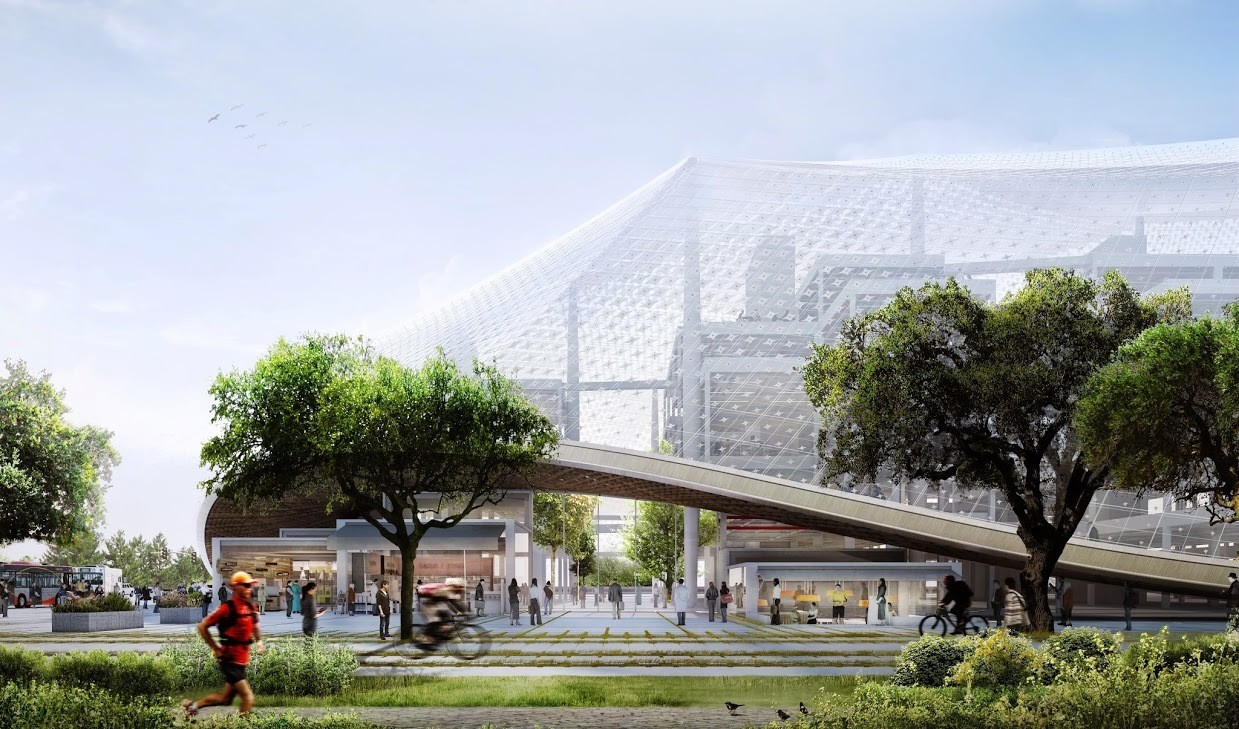 Sede da Google, de BIG e Heatherwick, será construída com robôs, © Google / BIG / Heatherwick Studio