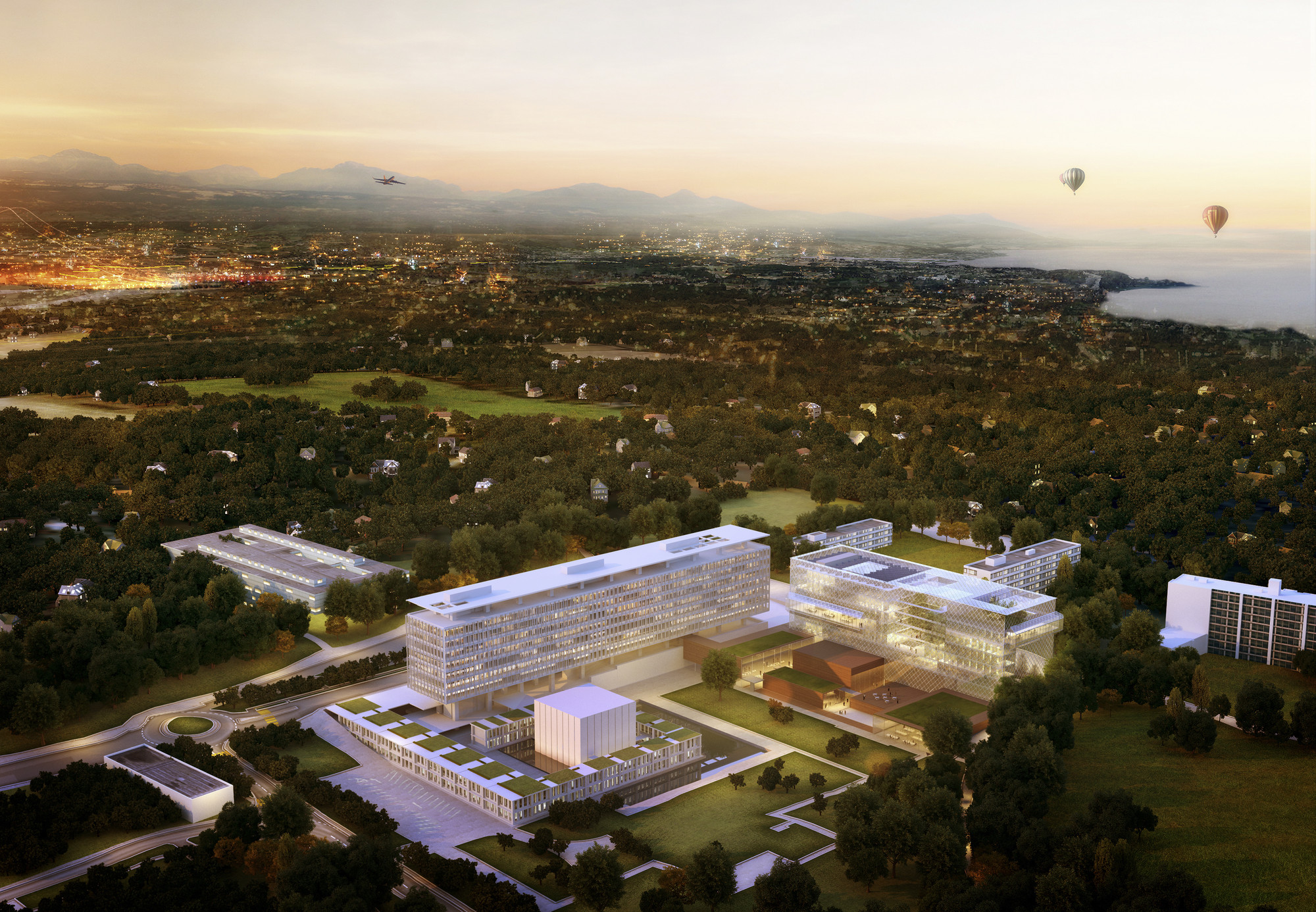 Competition Entry: Latitude Studio Consolidates Office Space at WHO's Geneva Headquarters, WHO Headquarters after intervention. Image Courtesy of Latitude Studio