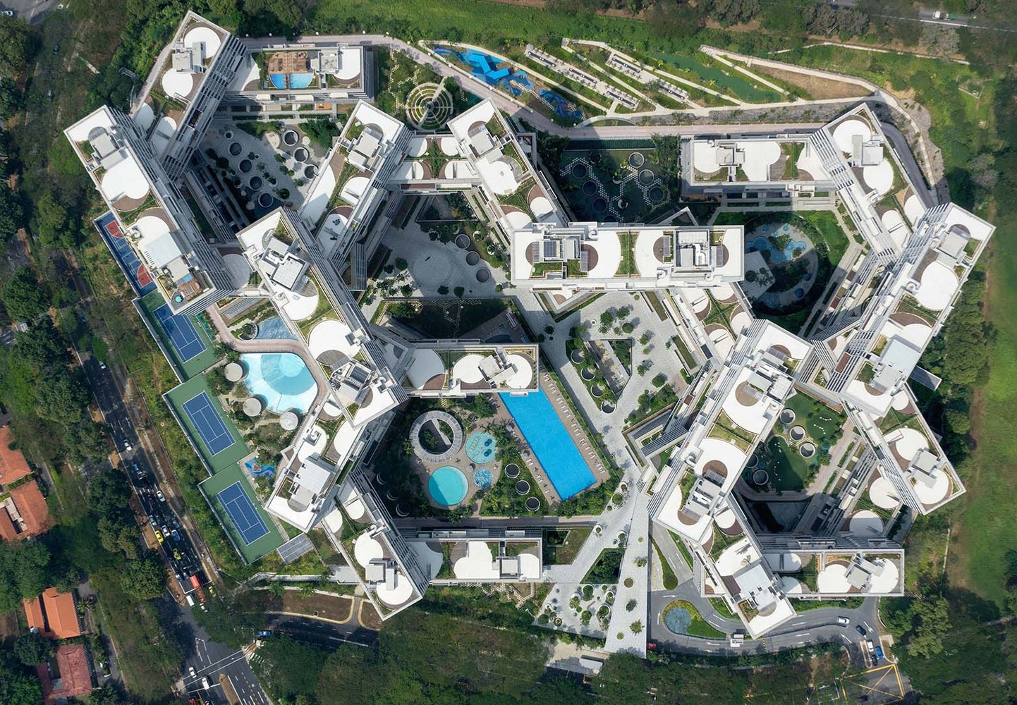 The Interlace in Singapore by and Ole Scheeren