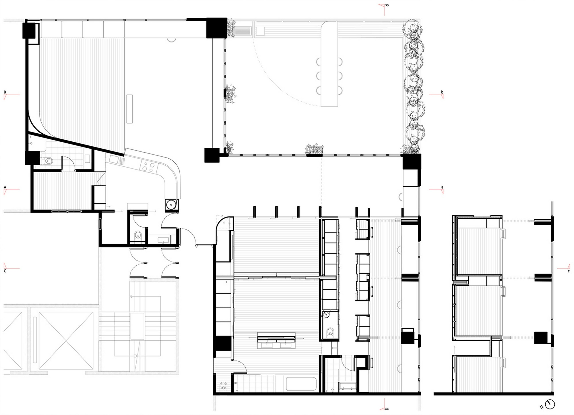 Hong Kong Apartment Floor Plan Gallery Of Wing Loft Laboratory For Explorative