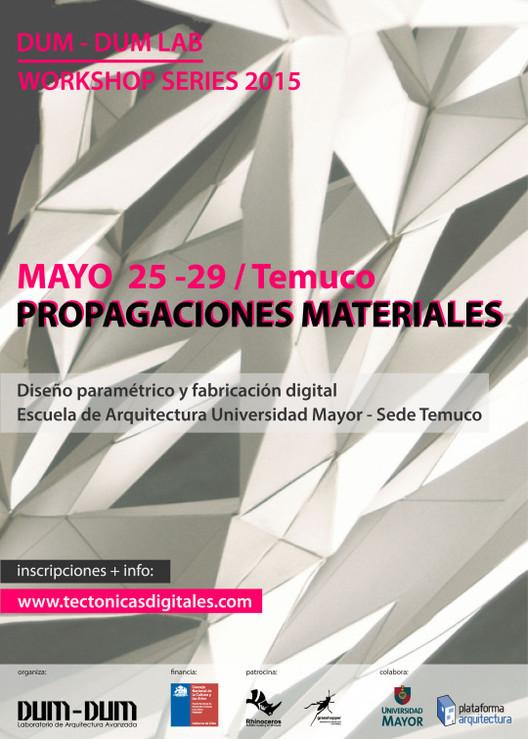 """Workshop series: """"Propagaciones materiales"""" en Temuco, Chile"""